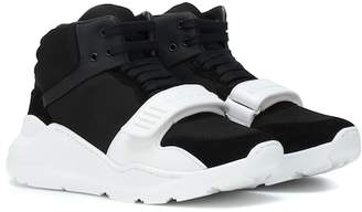 Burberry Suede and neoprene sneakers