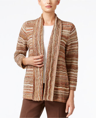 Alfred Dunner Santa Fe Collection Space-Dyed Metallic Cardigan $68 thestylecure.com
