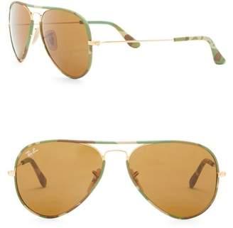Ray-Ban 55mm Pilot Sunglasses