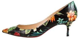 Christian Louboutin Printed Pointed-Toe Pumps