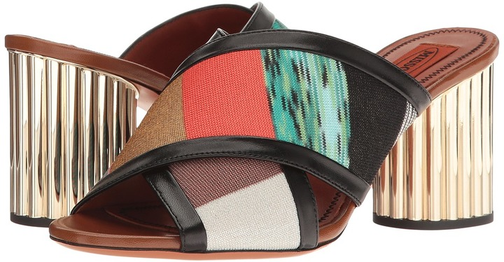 Missoni - Patchwork Heeled Slide Women's Shoes