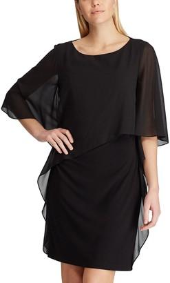 Chaps Women's Chiffon-Overlay Shift Dress