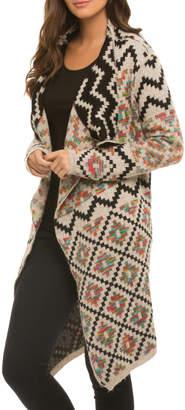 Elan International Colorful Aztec Cardigan