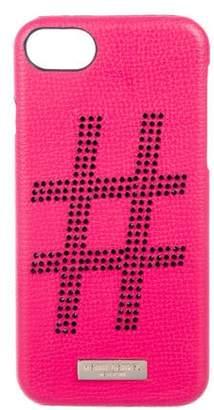Henri Bendel Embellished Leather Phone Case