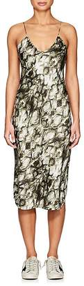 Nili Lotan Women's Cobra-Print Silk Charmeuse Slipdress