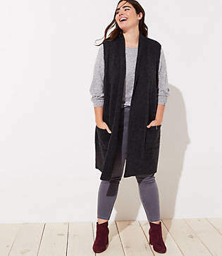 LOFT Plus Pocket Sweater Vest