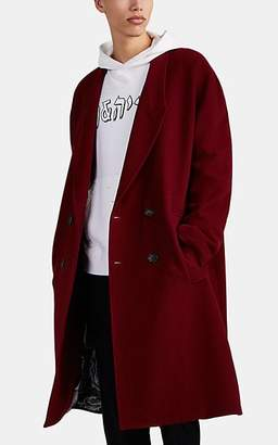 424 - Born X Raised Men's Wool-Blend Oversized Double-Breasted Topcoat - Dark Red