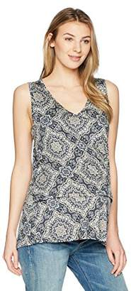 Everly Grey Women's Val Maternity and Nursing Tiered Tank