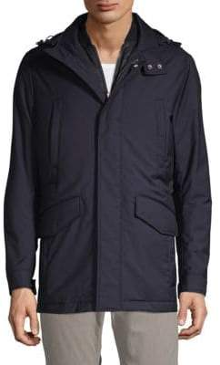 HUGO BOSS T-Cale 2-in-1 Quilted Wool Vest & Hooded Coat