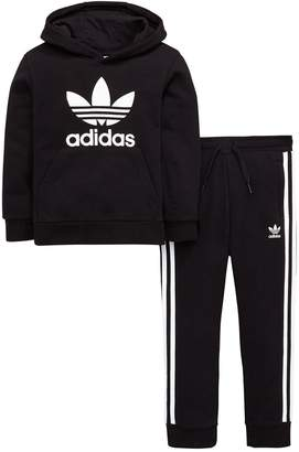 adidas Younger Boys Trefoil Hoodie Suit