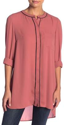 Daniel Rainn DR2 by Piped Long Sleeve Tunic Blouse (Petite)