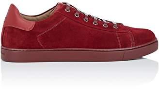 Gianvito Rossi Men's Suede Low-Top Sneakers