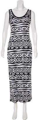 St. John Sleeveless Maxi Dress