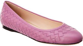 Bottega Veneta Peggy Intrecciato Leather Ballet Flat