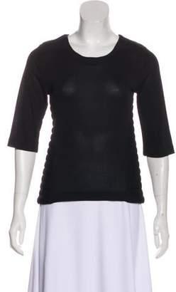Dagmar Semi-Sheer Short Sleeve Top