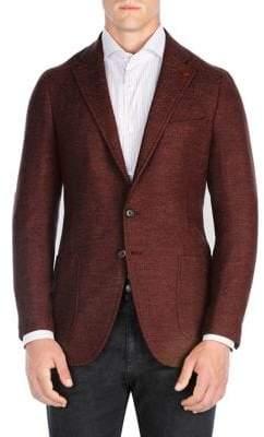 Isaia Herringbone Sportcoat