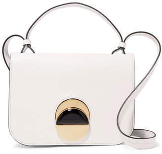 Marni Pois Leather Shoulder Bag - White