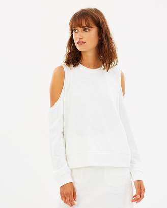 Nude Lucy Bryant Off-Shoulder Sweatshirt