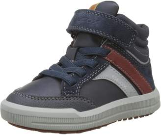 Geox Boy's J Arzach B. C Sneakers, Navy/Bordeaux