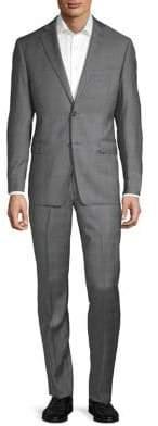 Black & Brown Black Brown Plaid Wool Suit