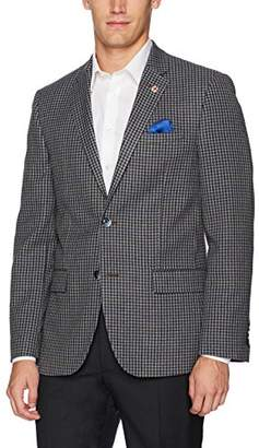 Ben Sherman Men's Two Button Slim Fit Houndstooth Sportcoat