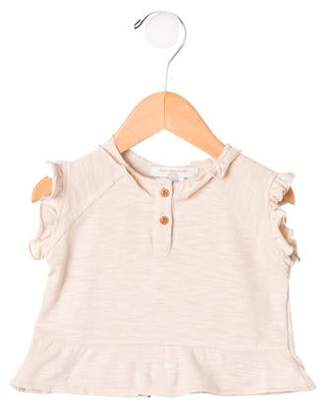 Caramel Baby & Child Girls' Ruffle-Trimmed Top