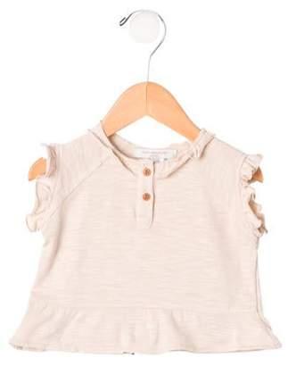 Caramel Baby & Child Girls' Ruffle-Trimmed Top