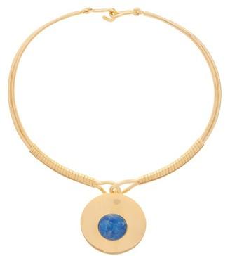 Joelle Gagnard Kharrat - Chapiteau Gold Plated Choker Necklace - Womens - Blue