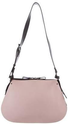 Valentino Leather Colorblock Saddle Bag