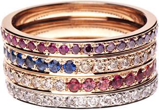 Kasper Sabina 18k Gold & Gemstones Alliance Ring