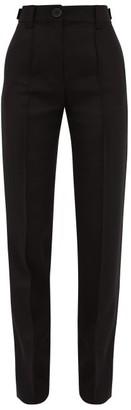 Wales Bonner Mumbo Jumbo Wool Blend Slub Trousers - Womens - Black