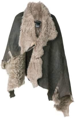 Ann Demeulemeester draped shearling jacket
