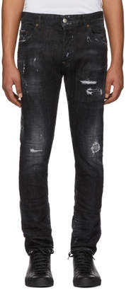 DSQUARED2 Black Twin Peaks Skater Jeans