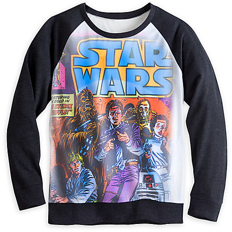 Star Wars Comic Book Long Sleeve Raglan Tee for Women