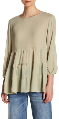 Ro & De 3/4 Length Sleeve Tiered Blouse $34.97 thestylecure.com