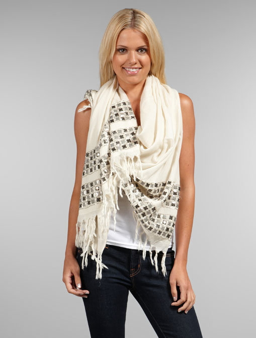 AKA New York Geo-Beaded Scarf