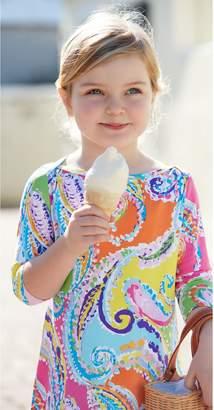 J.Mclaughlin Girls' Mari Dress in Watercolor Paisley