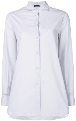 Ermanno Ermanno pinstriped pearl button shirt