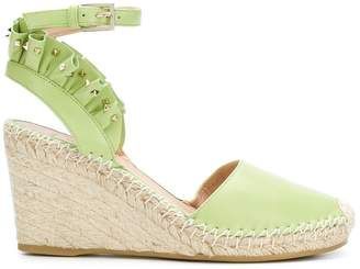 Valentino Micro-stud Rouched Espadrille wedges