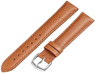 Hadley-Roma MS2045RR 180 18mm Leather Calfskin Brown Watch Strap