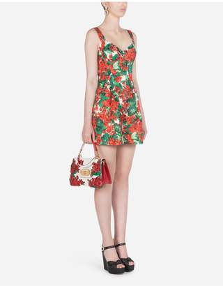 Dolce & Gabbana Portofino-Print Brocade Playsuit