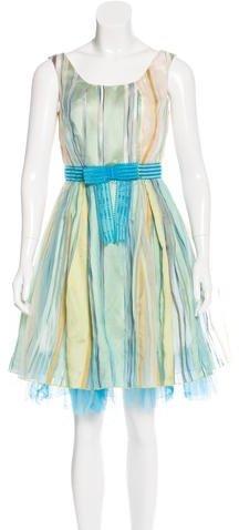 Anna SuiAnna Sui Striped A-Line Dress