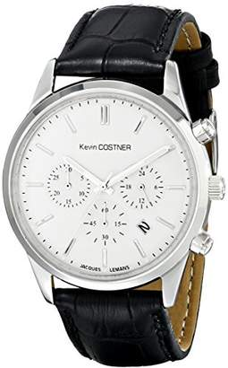 Jacques Lemans Unisex KC-103A Kevin Costner Collection Analog Display Quartz Black Watch