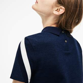 Lacoste Women's Made In France Tricolor Caviar Pique Polo