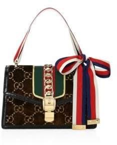 Gucci Sylvie GG Velvet Small Shoulder Bag