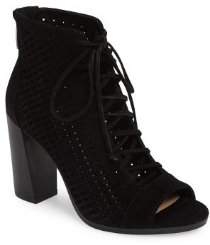 Women's Vince Camuto Kevina Lace-Up Open Toe Bootie $159.95 thestylecure.com