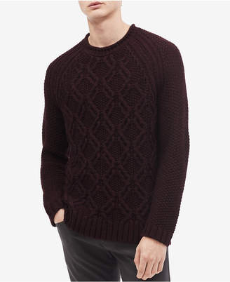 Calvin Klein Men's Cable-Knit Crewneck Sweater