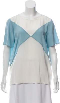 Paul Smith Silk Short Sleeve Top
