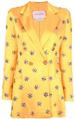 Carolina Herrera embellished double breasted blazer