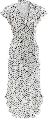 Zimmermann Flounce Neck Midi Dress